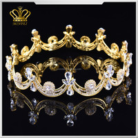 wholesale full circle rhinestone pageant crown clear crystal girls tiara