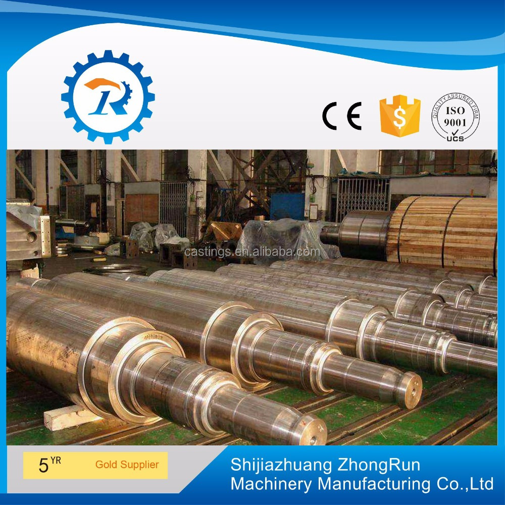 High-Cr steel Rolls, mill rolls work in the roughing stand of hot strip continuous rolling mills.