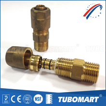 Russian style copper demountable male straight water gas tube fittings with AS4176 NSF