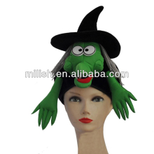 Halloween decorated top green Witch toy hats MH-1664
