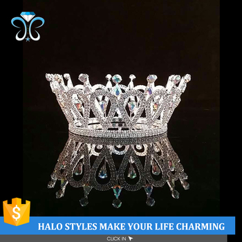 2017 Hot Selling Rhinestone Party Crowns For 15 Years H172-321