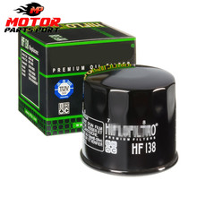 Spare parts Motorcycle Racing Replacement Oil Filter HF138 for GSXR 600 750 1000
