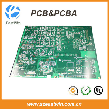 controller pcb manufacturing and pcb assembly with Blue,Red,Yellow,Black&Green Soldermask