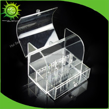 Customized Decorative Clear Acrylic Cosmetic Drawer Organizer Makeup Case