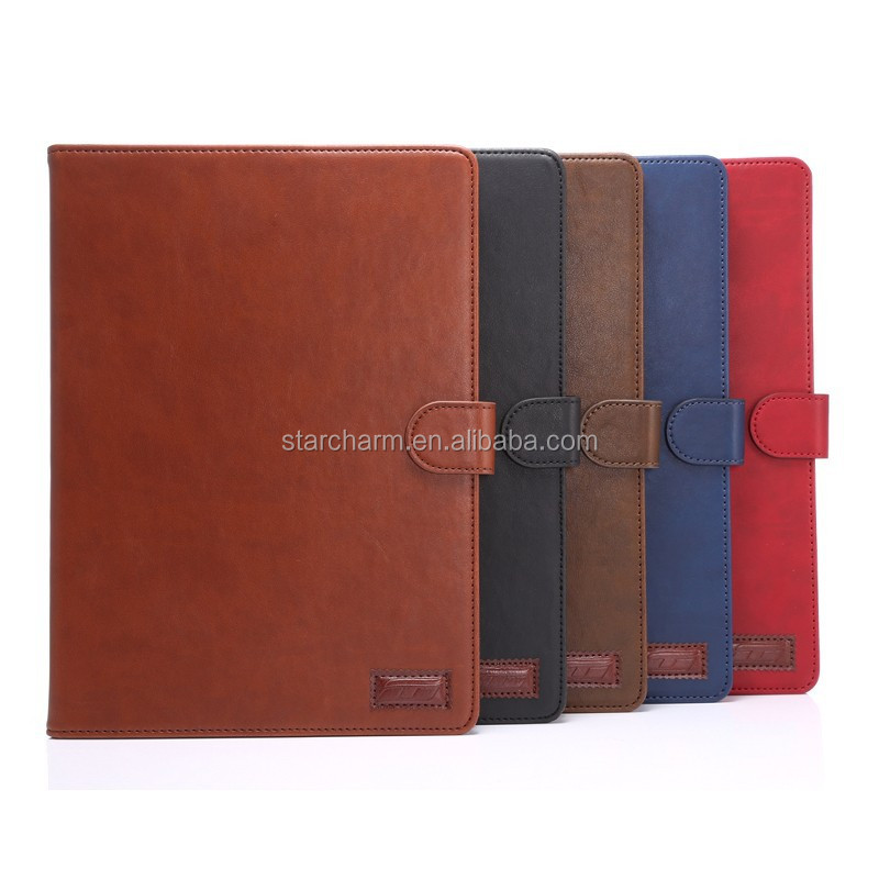 Luxury leather for Ipad air 2 case smart case for kids
