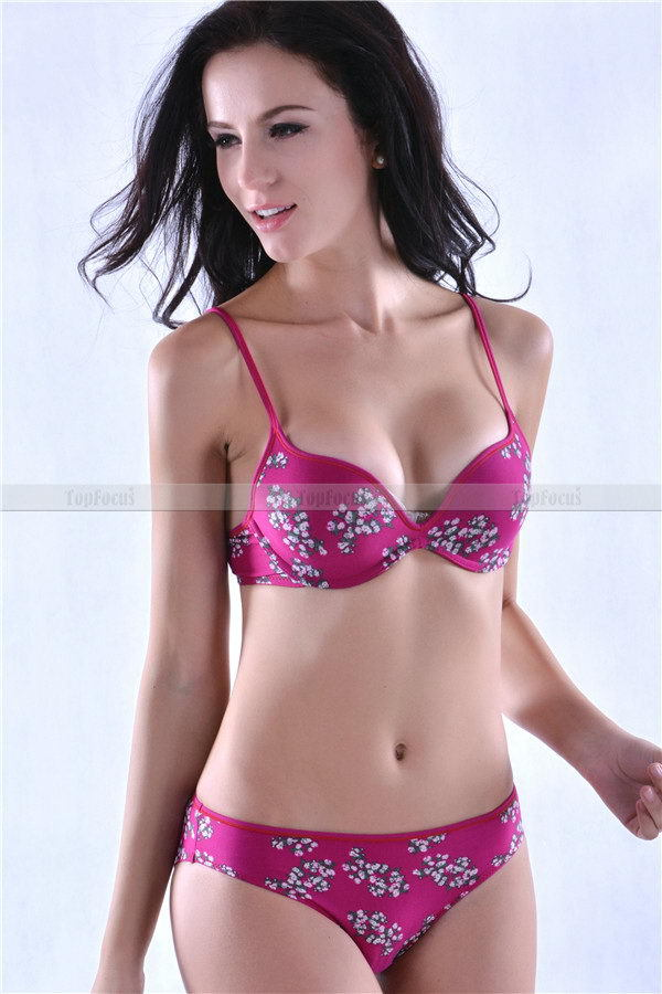 Newest Crazy Selling OEM/ODM service sexy solid push up bra and panty set