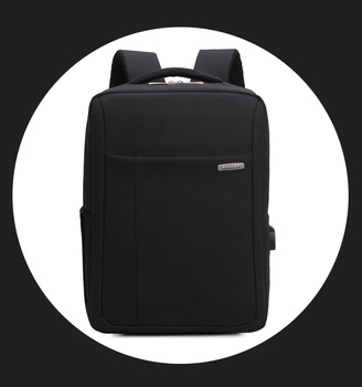 Stylish Black Business Computer Backpack Wholesale 2017, Best OEM Elegant Nylon Laptop Charging Backpack Waterproof