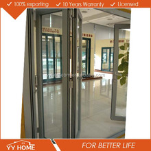 Cheap Price Aluminum folding door partition for banquet hall commercial double glass doors