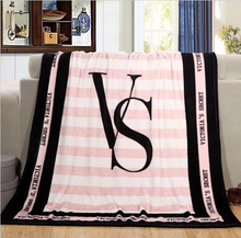 130*150cm Spring/Autumn Victoria Secret Pink Coral Fleece Fabric Blankets Size Flannel Bedding Article Small Blanket