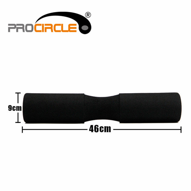 ProCircle Barbell Pad/ Olympic Cushioned Weight Lifting Shoulder/ Squat/ Pull Up Support - Black for standard ol