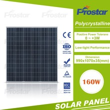 China made 12v poly solar panels 160w free sample low price backlit acrylic white light panel