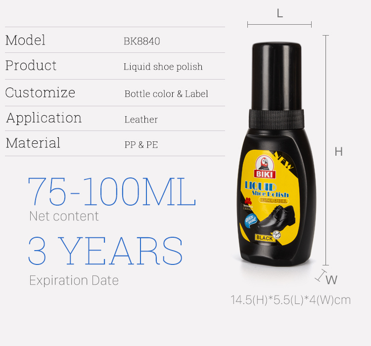 BK8840 Liquid shoe polish
