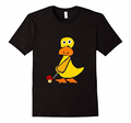 Funny Model O Neck Yellow Duck Printed Short Sleeve Cotton T-Shirt For Male