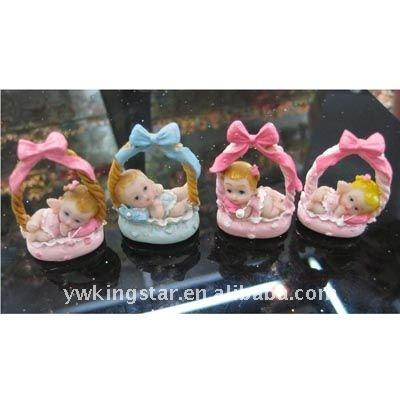 Cradle baby resin crafts