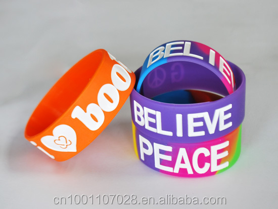 Company promotion gift items new silicone bracelet wrist bands/custom wristband