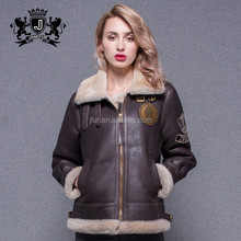 Top Grade Double Face High Quality Woman First Genuine Leather Jackets