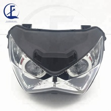 ABS Plastic Material Z250/Z800 Motorcycle Headlight Lamp For Kawasaki