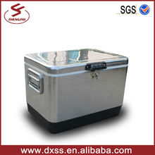 54qt Metal iron ice chest cooler for cans
