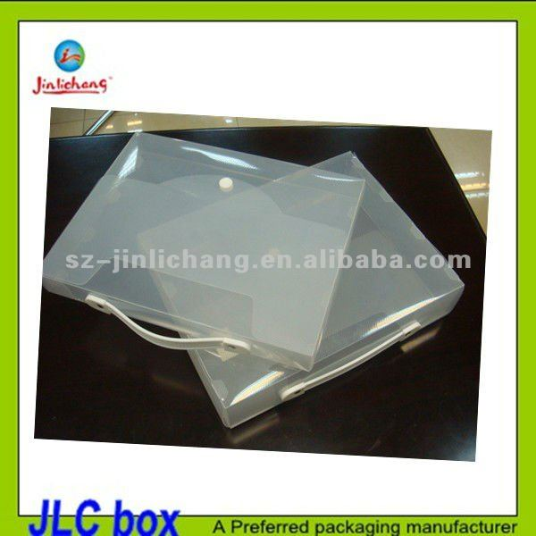 frosted pp box for documents case