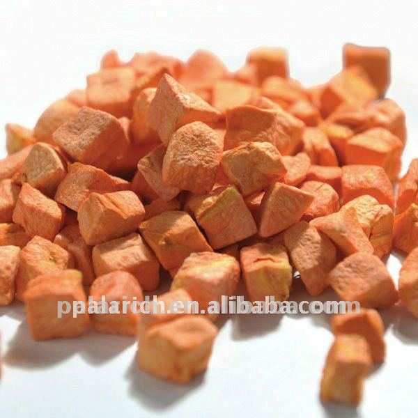 dehydrated carrot dices