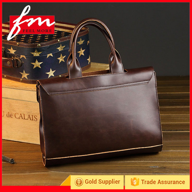 Good Quality Fashion Western Style Custom Men Leather Briefcase&Messenger Bags&Handbags