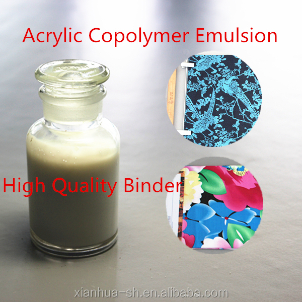 High quality and factory price acrylic emulsion binder for pigment printing