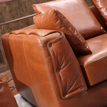 Hot selling products leather sofa wood trim vintage leather sofa sale johor bahru ODM