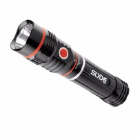 Hard-Light COB Telescopic LED Flashlight 250 Lumens Torch Flashlight XM-L T6 LED Small Torch Light Lamp (tail with magnet)