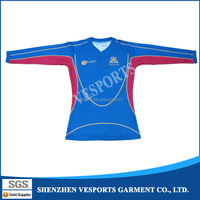 Manufacture sublimation print high quality New design Rugby Jerseys