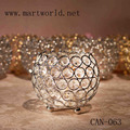 2017 cheap wedding silver crystal tealight candle holder votive candle holder for wedding decoration party decoration(CAN-063)