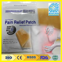 Hydrogel Plaster For Arthritis Pain Relief Used With Pain Relief Oil CE FDA ISO Approved