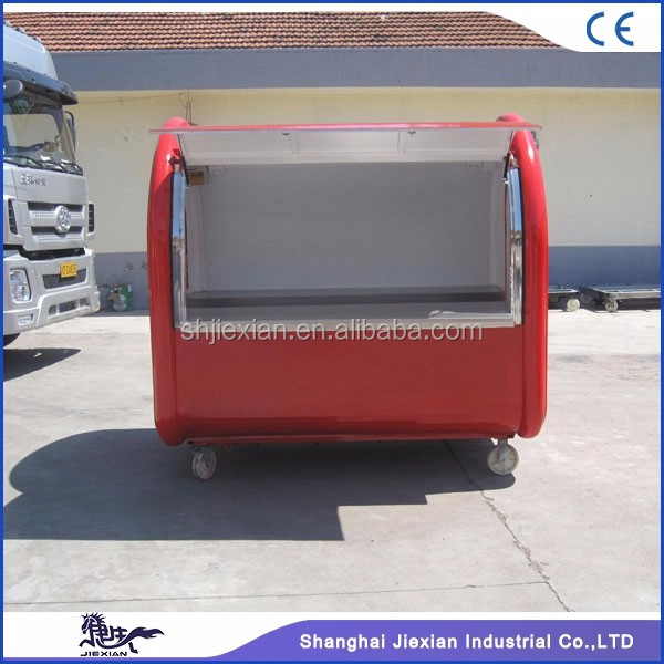JX-FR220A China Street Mobile street food cart design food stall/push cart