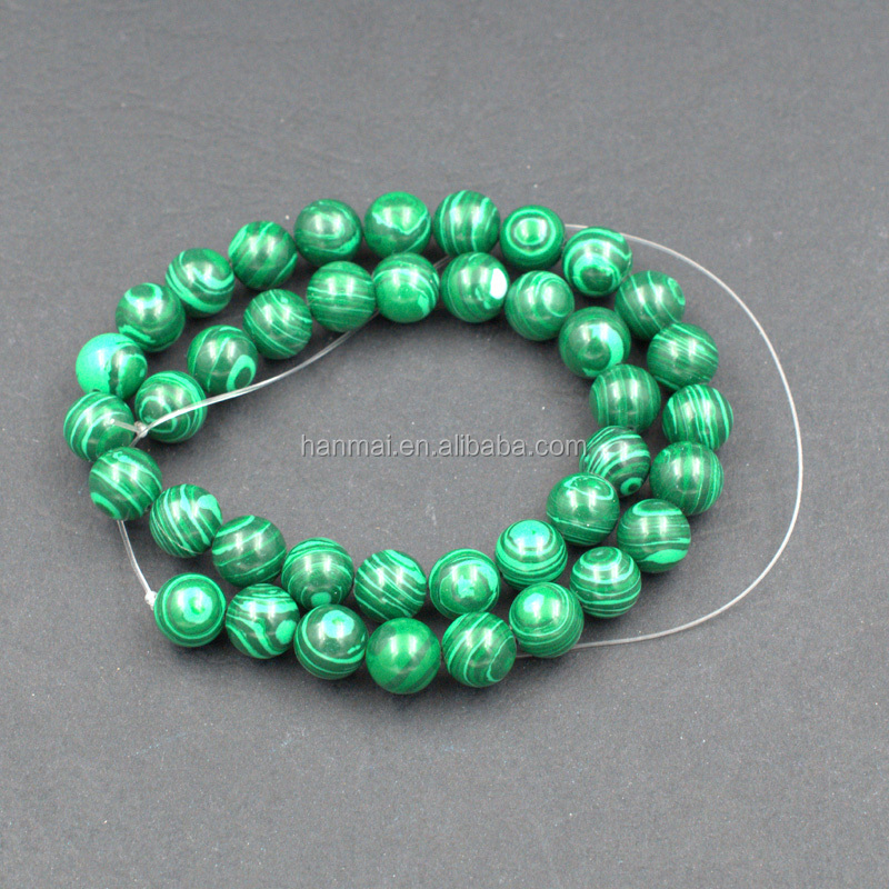 6mm 8mm 10mm Malachite /natural <strong>stone</strong>