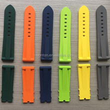 Good quality fluororubber changeable vulcanized rubber watch strap