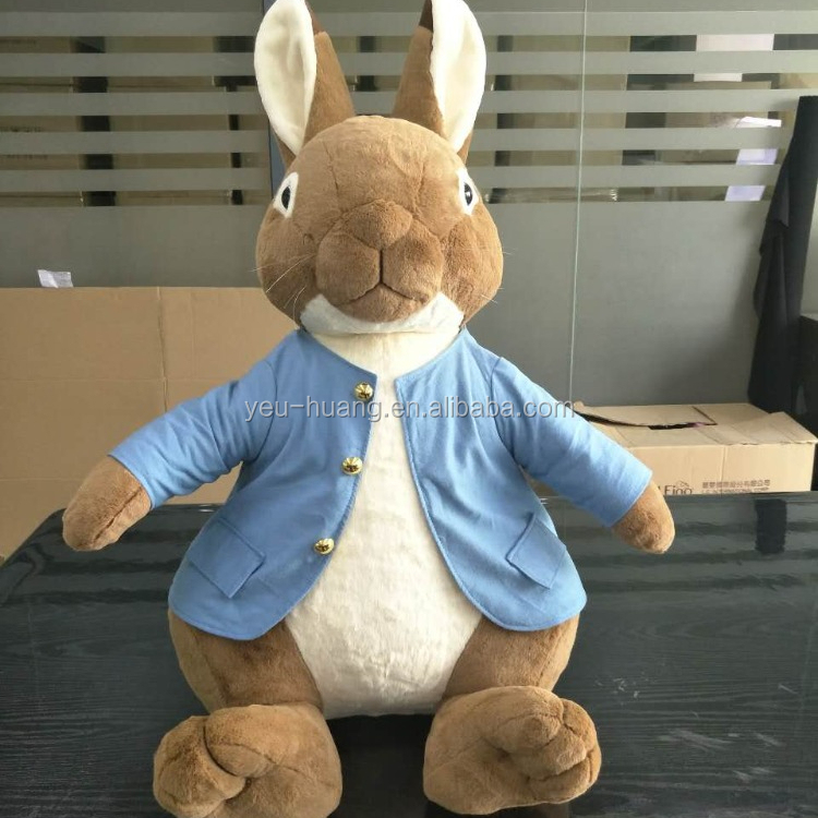 Custom OEM cuddly plush peter rabbit stuffed animal toy