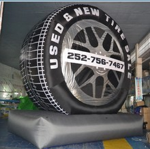 6m outdoor advertising inflatable wheel, inflatable tyre