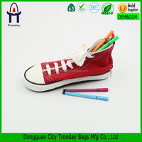 Red canvas shoe sneaker pencil case converse pen bag