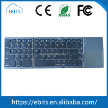 Factory directly selling ultra slim mini bluetooth wireless folding keyboard with touchpad for Windows Android IOS