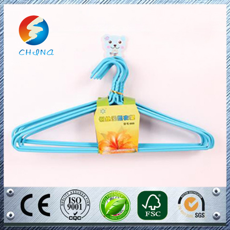 Hot selling wire wooden hangers for clothes cheap price hot dipped galvanized iron wire electro galvanized wire hanger