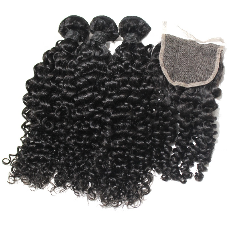 Double Drawn Virgin Curly <strong>Hair</strong> Vendors Deep Curly <strong>Hair</strong> With Closure