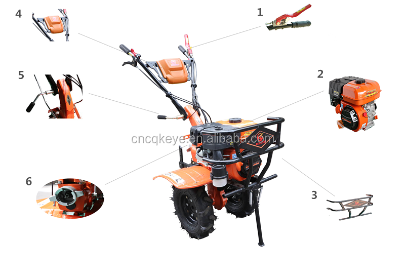 7HP Gear Drive Agricultural Mini Rotary Power Tiller Cultivators