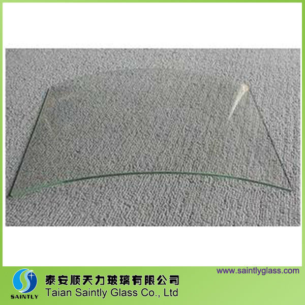 3.2mm curved glass with tempered