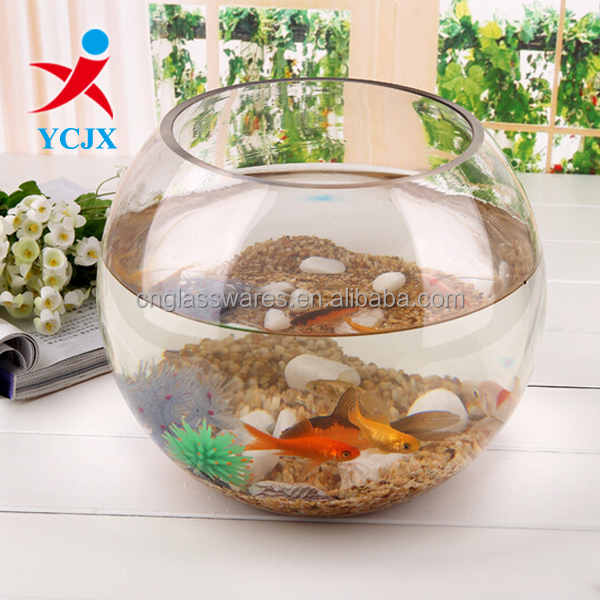 ROUND CLEAR GLASS FISH TANK FOR PROMOTION