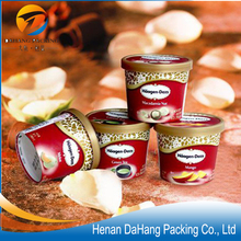 12oz disposable design paper cup for ice cream with lid