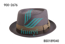 Mans low price paper braid straw fedora hats supplier