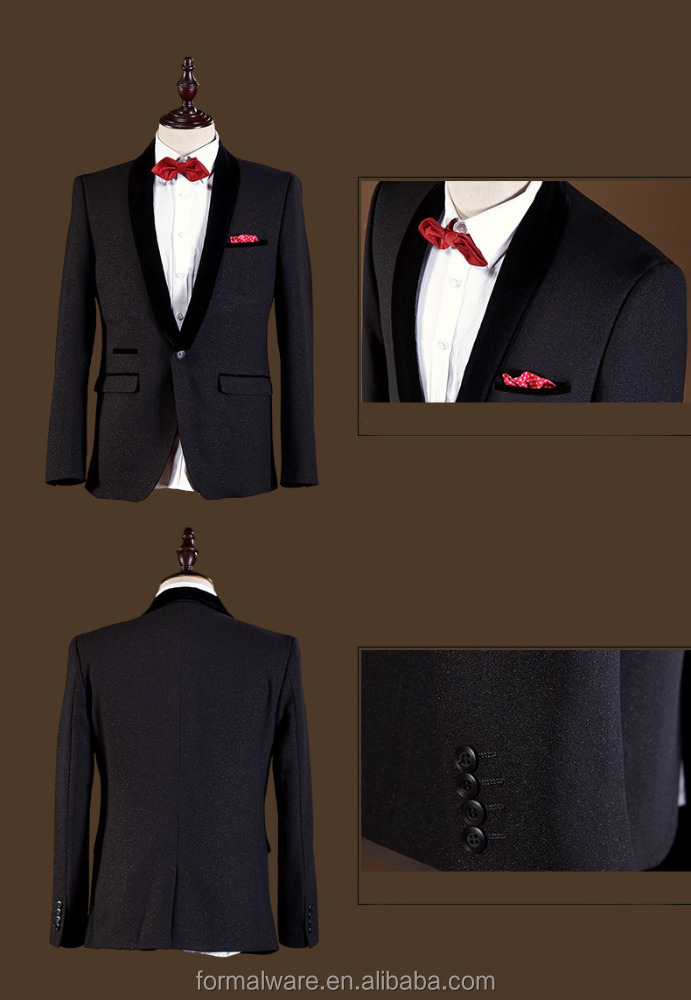 2015 Fashion designer korean business suit for man For wedding