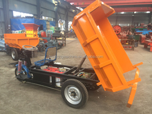 Huahong cheap adult electric tricycle ,open body electric tricycle car ,electric mining dumper for sale