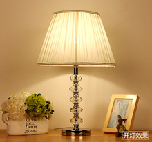 Classic Traditional Faceted Solid Bedroom Crystal Table Desk Lamps