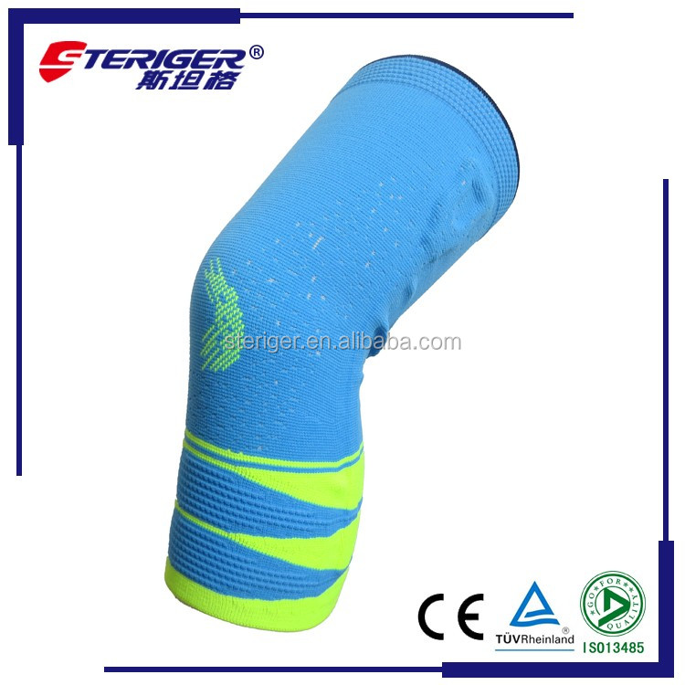 3D woven nylon spandex material comfort breathanle sports knee support sleeve