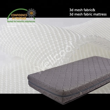 dark gray flower pattern 3d air mesh fabric mattress